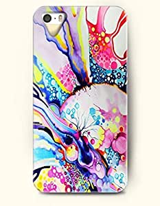 Phone Case For iPhone 5 5S Colorful Abstrict Painting - Hard Back Plastic Case / Oil Painting / SevenArc Authentic...