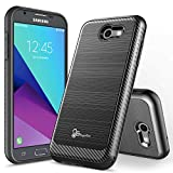 ZTE Blade Z MAX Case with [Tempered Glass Screen Protector], ZTE Blade ZMax Pro 2 Case, NageBee [Matte Frost] [Carbon Fiber] Slim Soft TPU Rubber Cover Case For ZTE Sequoia Z982 - Black2