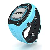 Pyle Pro GPS Sports Watch Workout Trainer - ANT+ Heart Rate Monitor Compatible - For Tracking Running, Biking, Hiking Outdoors - Export Data to Map my Run and Strava - Displays Pace, Speed and Distance (Blue)