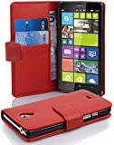 Cadorabo - Book Style wallet case for Nokia Lumia 900 in CANDY-APPLE-RED