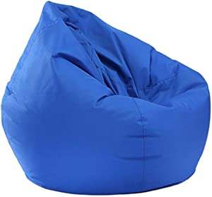 Jlong Bean Bag Chair Cover, Unfilled Soft Big Sofa Furniture Lazy Lounger Bean Bag Storage Chair Removable Cover Indoor Outdoor for Adults, Teens and Kids