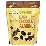 Woodstock, Organic, Dark Chocolate Almonds, 6.5 oz (184 g) - 2pc