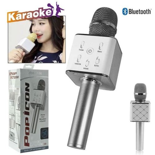 2 n 1 Acellories Pop Icon Stereo Karaoke Portable Microphone & Built in Bluetooth Speaker For iPhone Android LG Samsung (Icon Stereo)