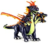 Dinosaur World Ultimate 7 Headed Dragon Battery Operated Walking Toy Dinosaur Figure w/ Realistic Movement, Lights and Sounds (Colors May Vary)