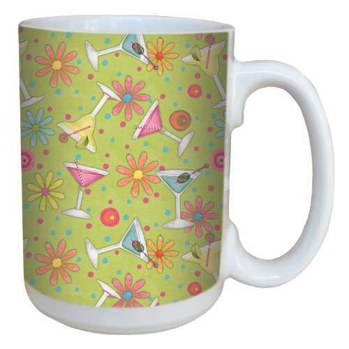 Tree-Free Greetings 79255 Party-On by Debbie Mumm Ceramic Mug with Full-Sized Handle, 15-Ounce