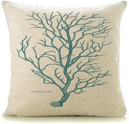 MLPNJ Funda de Almohada Árboles Plantas Imprimir Casa Decorativa Cuadrada Lino Algodón Coche Cama Silla 45X45Cm: Amazon.es: Hogar