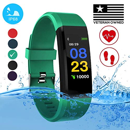 - Burn-Rate Fitness Tracker Heart Rate Monitor - Smart Watches for Women & Men, Kids Color Smart Watch Fit Bracelet. Reloj Inteligente band Pedometer, Waterproof, Distance Activity bit for Android & iOS