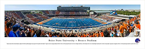 Boise State Football - 50 Yard - Blakeway Panoramas Unframed College Sports Posters (Boise State Football Square)