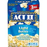 popcorn act ii - Act II Popcorn, Light Butter, 3 Count (Pack of 12)