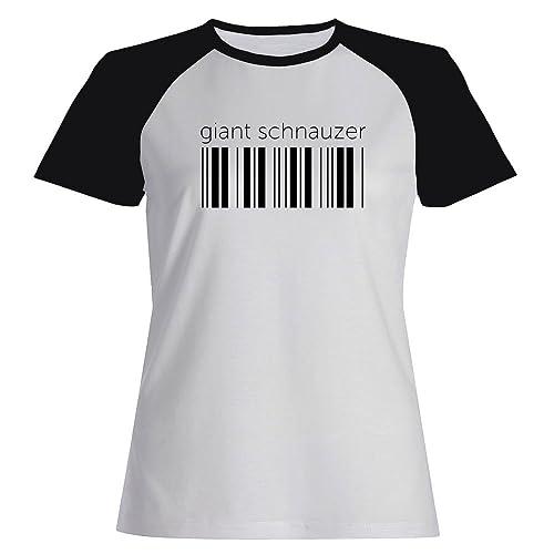 Idakoos Giant Schnauzer barcode - Cani - Maglietta Raglan Donna