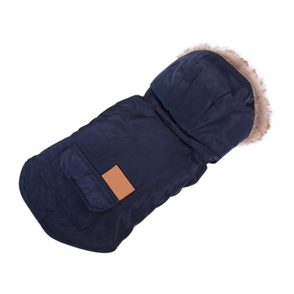 bluee S bluee S AOBRITON Winter Pet Dog Clothes Warm Down Jacket Waterproof Coat Hoodies for Small Medium Dogs Puppy Pet Supplies