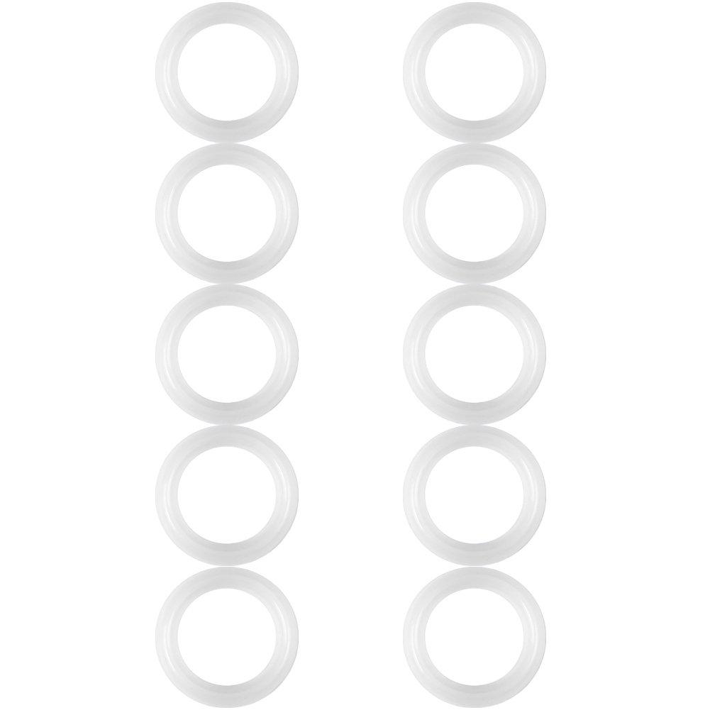 guarnizioni di tenuta in silicone, 10 pezzi/set 1,5 pollici di ricambio guarnizione in silicone guarnizione rondella anello per ghiera morsetto sanitario