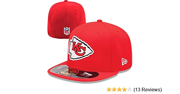 hot sale online 5acc0 b5a77 Amazon.com   NFL Mens Kansas City Chiefs On Field 5950 Red Game Cap By New  Era   Sports Fan Baseball Caps   Clothing