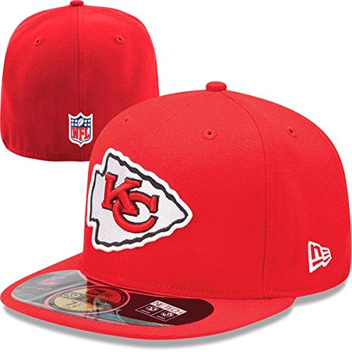 c3ac74774d3 Amazon.com   NFL Mens Kansas City Chiefs On Field 5950 Red Game Cap By New  Era   Sports Fan Baseball Caps   Clothing
