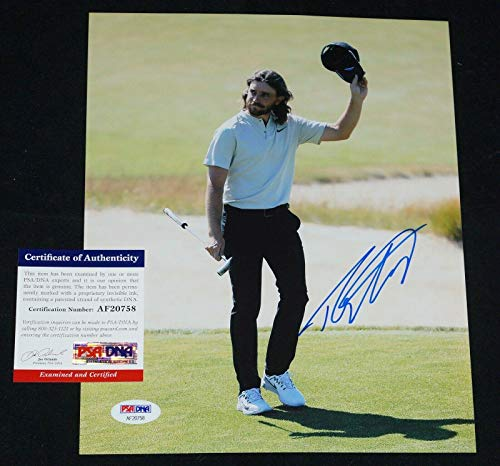 Tommy Fleetwood Autographed Photograph - 8x10 Masters Open + COA AF20758 - PSA/DNA Certified - Autographed Golf Photos (Photo Autograph 8x10 Certified Golf)