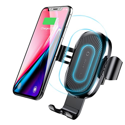 Holder Wireless - Baseus Wireless Car Charger Air Vent Phone Holder Gravity Car Mount 10W Charge for Samsung Galaxy S8, S7/S7 Edge, Note 8 5 and 5W Standard Charge for iPhone X, 8/8 Plus & Qi Enabled Devices