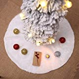Yooan Christmas Tree Plush Skirt White Plush Round DIY Home Decoration Ornaments Christmas Party Decorations favors
