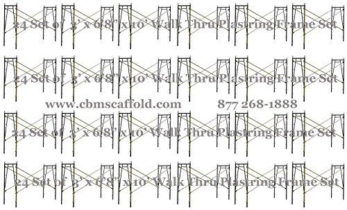 24 Set of 3' x 6'8'' x 10' Scaffolding frames for Plastering masonry work CBMscaffold. com by CBMscaffold