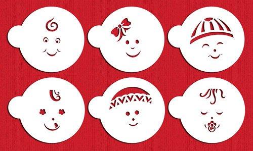 Baby Faces Cookie Stencils by Designer Stencils C736