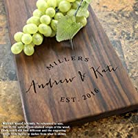 Contemporary Wedding Personalized Cheese Board – Engagement Party, Wedding Shower, Wedding Gift, Anniversary Gift. #026