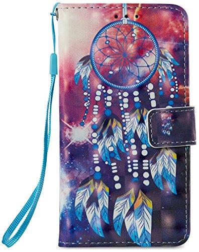 Case for Samsung Galaxy J3 Emerge/J3 2017/J3 Prime/J3 Mission/J3 Eclipse/J3 Luna Pro/Sol 2/Amp Prime 2 Express Prime2 PU Leather Magnetic Wallet Hand Strap Folio Kickstand Dream Catcher