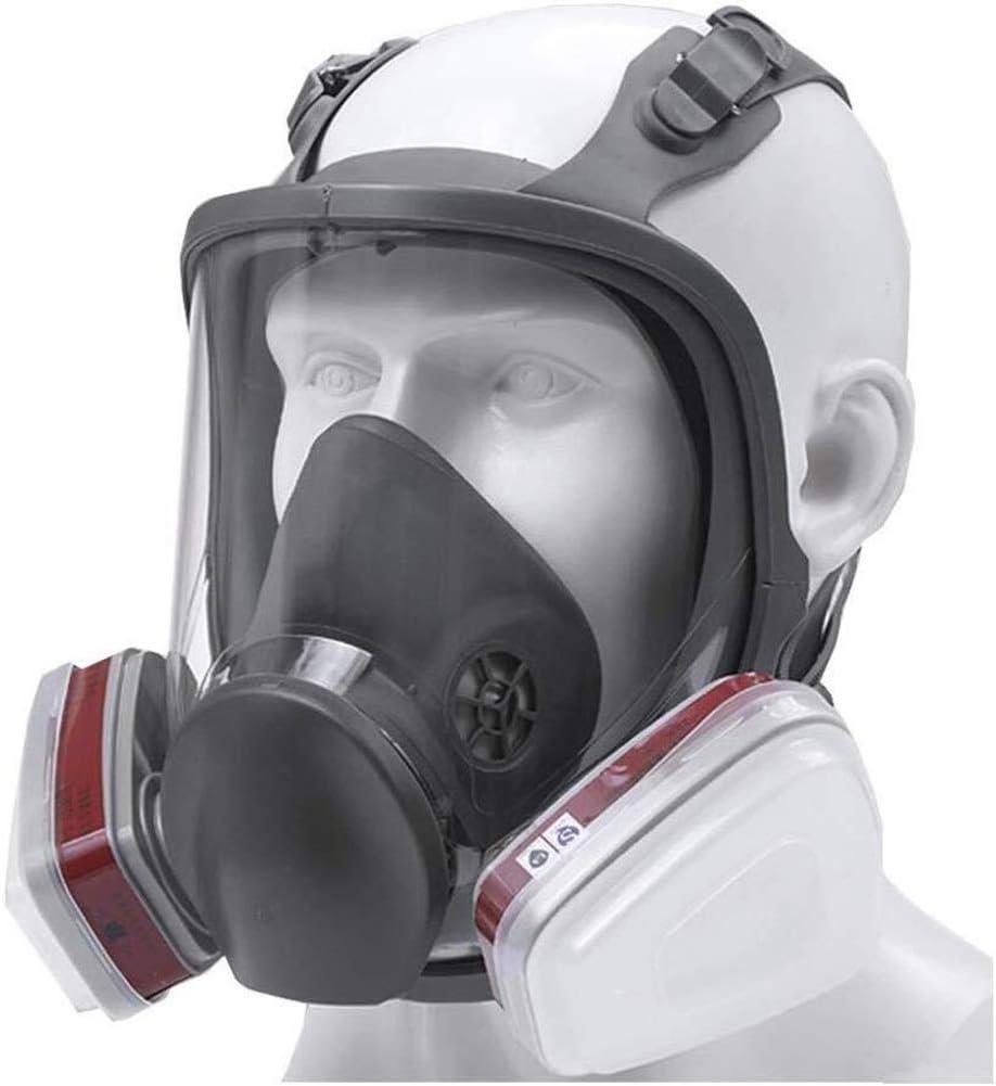 SOAR Respiradores Mascarilla Facial respirador, doble filtro de aire, protección ocular, protección respiratoria, de la pintura, polvo, pulido mecánico, soldadura