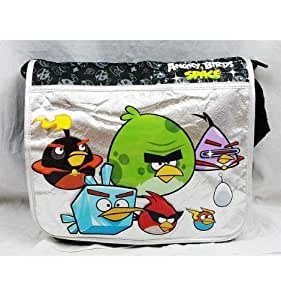 Angry Birds Space Large Black and Silver Messenger Bag-tote-school