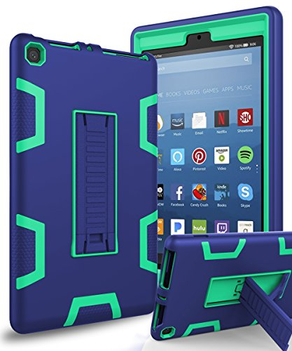 All-New Amazon Kindle Fire HD 8 Case,XIQI Three Layer Hybrid
