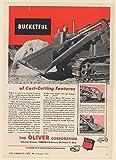 1952 Oliver Model B Crawler Ware Loader Bucketful of Cost-Cutting Features Print Ad (Memorabilia) (63423)