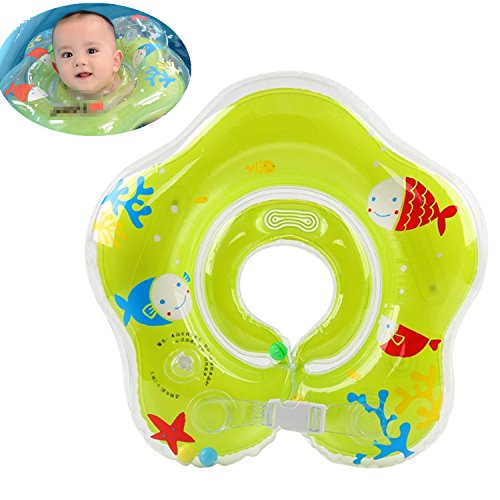 Mai Poetry Baby Double Airbags Floating PVC Inflatable Baby Swim Float Seat Swimming Pool (Green-2)
