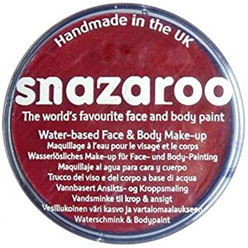 Snazaroo 30ml Face And Body Paint Pot Maroon Amazoncouk Toys