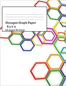 amazon hexagon graph paper hexagonal paper notebooks large