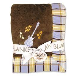 Trend Lab Framed and Embroidered Receiving Blanket, Rockstar