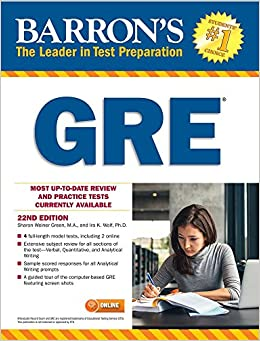 Barron's GRE with Online Tests 9781438009155 Study Guides at amazon
