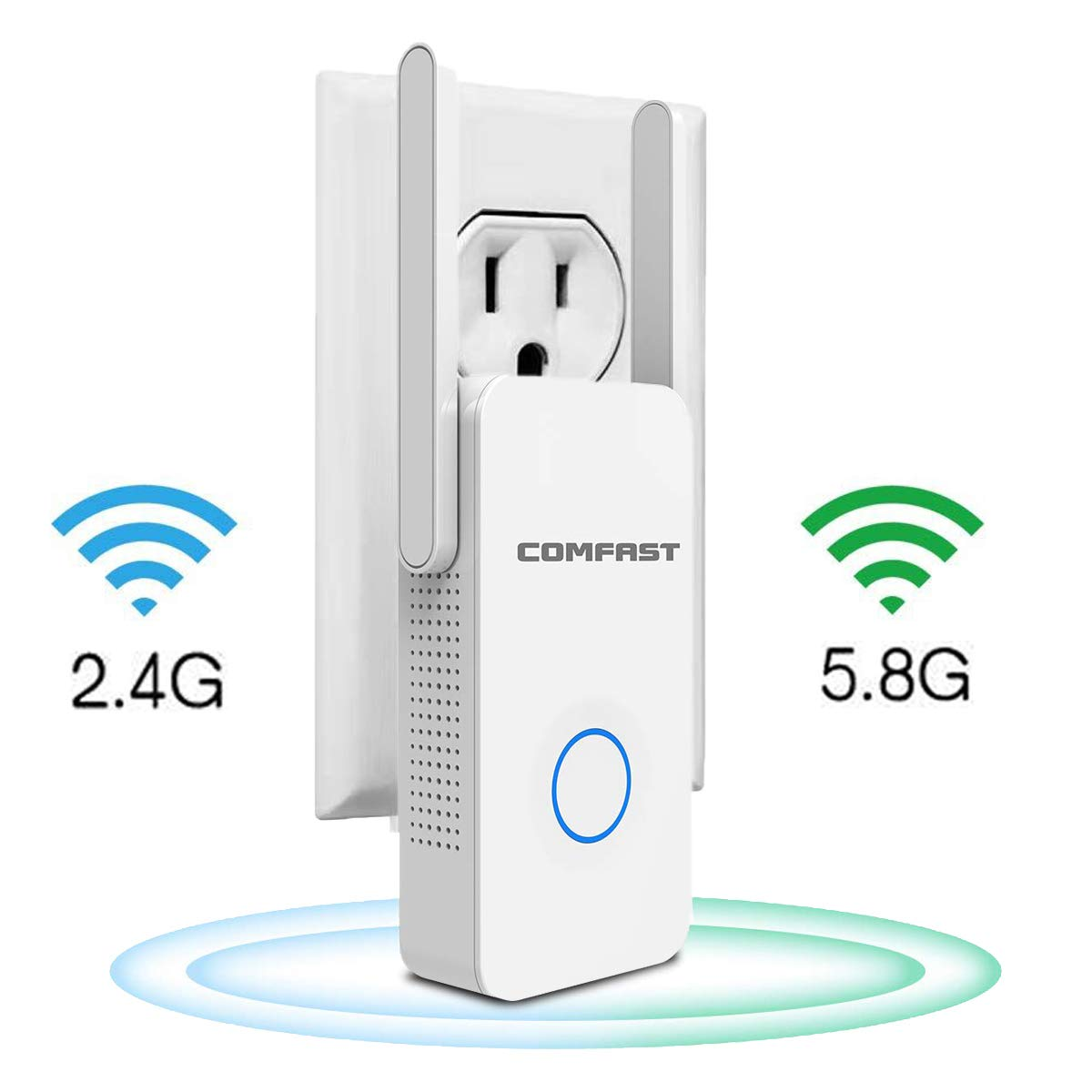 【2019 Newest】 WiFi Range Extender Up to 1200 Mbps Dual Bands 2.4G&5.8G Repeater WiFi Extenders Signal Booster Works with Any Router(1200M) by Flow.month