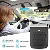 Zagot Car Wireless Bluetooth Handsfree Speaker Audio Adapter with Microphone with Clip Wireless Car Kit (V4.1) Lovable