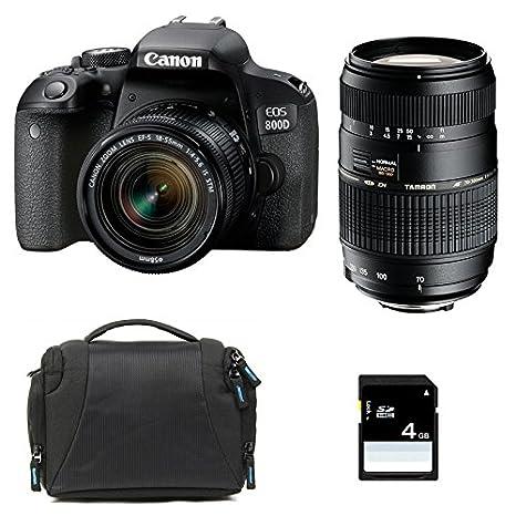 CANON EOS 800D + 18-55 IS STM + TAMRON 70-300 DI + Sac + SD 4Go ...