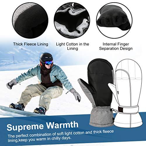 Ski Gris Chaud Sport Pour Hiver Velo Hommes Vbiger Femmes Moufle Gants 5qASxS