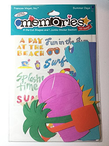 - Frances Meyer Memories Summer Days 8 Die Cut Shapes and 1 Jumbo Sticker Section