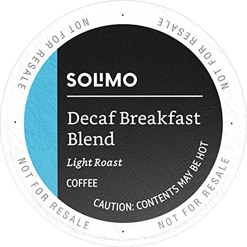 mazon Brand - 100 Ct. Solimo Decaf Light Roast Coffee Pods