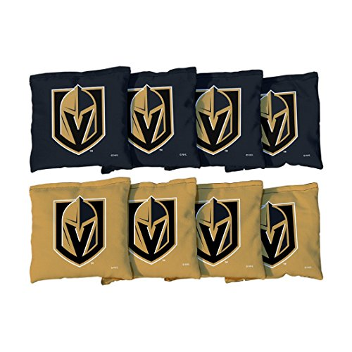 Victory Tailgate 8 Vegas Golden Knights NHL Cornhole Game Bag Set (8 Bags Included, Corn-Filled)