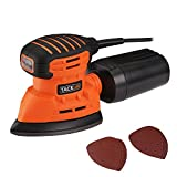 Tacklife PMS01A Classic Mouse Detail Sander 1.1A 130W 12000 RPM with 12 pcs Sandpaper (6 Pcs X80 & 6Pcs x 180 Grits),Dust Collection System For Tight Spaces Sanding in Home Decoration, DIY