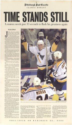 Pittsburgh Post-Gazette Mario Lemieux Poster