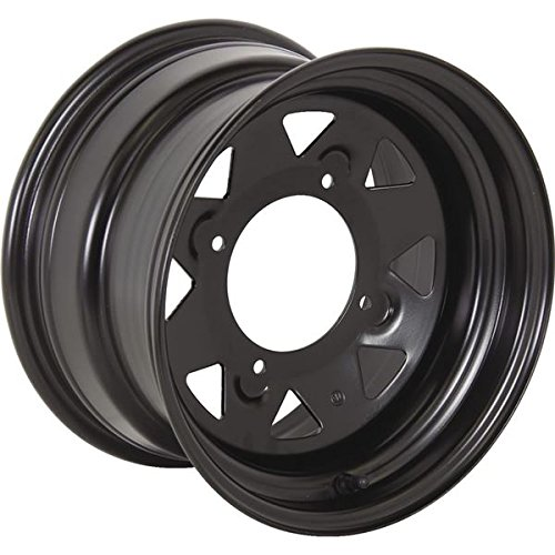 Black 12x7, 4/137, 4+3 Ocelot Sanji Steel Wheel - 847-1366