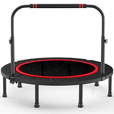 Fitness Trampoline for Adult Bungee Rebounder Jumping Cardio Trainer, Indoor Foldable Trampolines with Adjustable Handle, Round Rebounder Exercise Trampoline for Adult (Size : L): Home & Kitchen