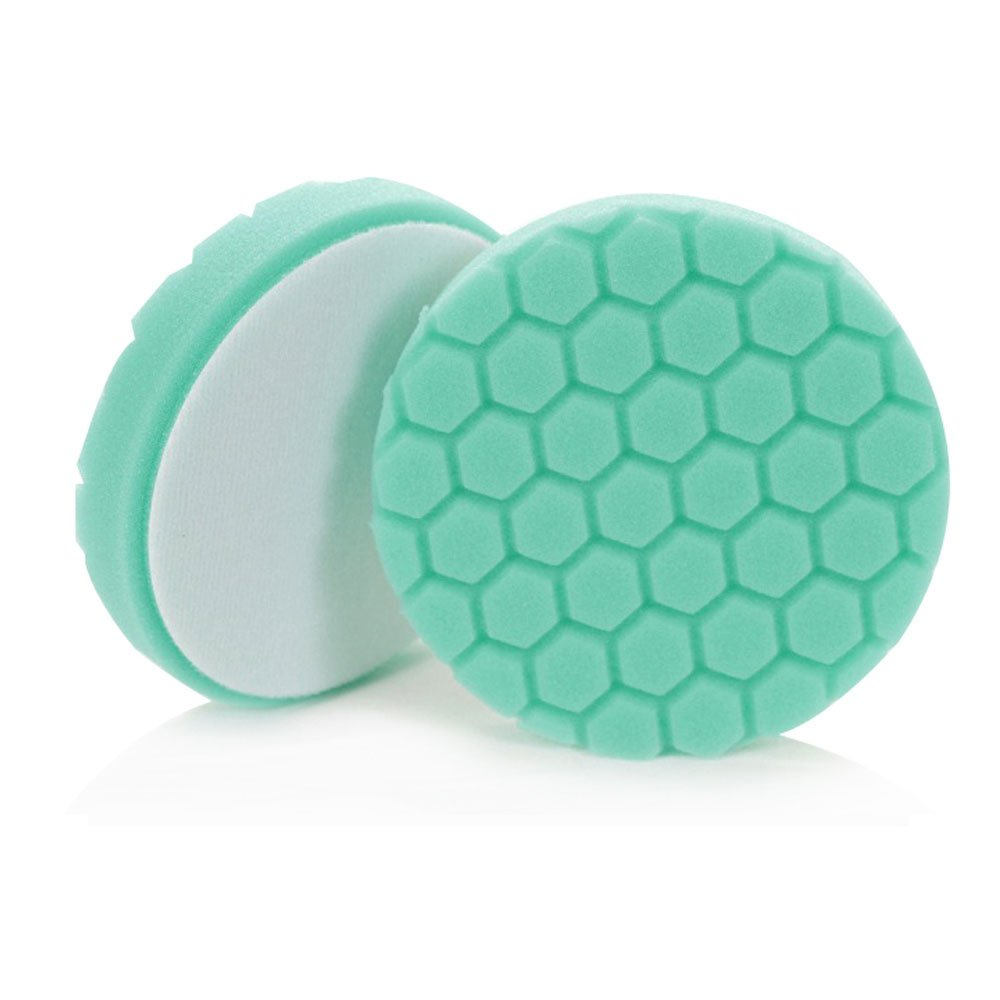 Chemical Guys BUFX_103_HEX6  Hex-Logic Heavy Polishing Pad, Green (6.5 Inch) by Chemical Guys (Image #2)