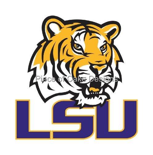 """8"""" Round ~ LSU Tigers Logo ~ Edible Image Cake/Cupcake To..."""