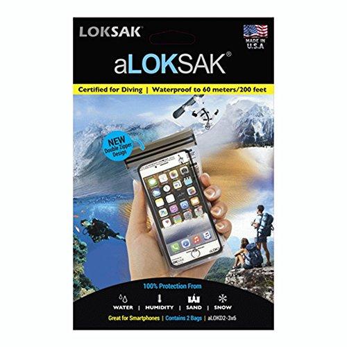 - LOKSAK aLOKSAK iPhone Drybag 3 x 6 inch, 2-Pack (aLOKD2-3x6)