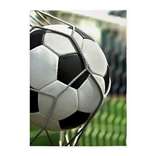 CafePress - Soccer Goal - Decorative Area Rug, 5'x7' Throw Rug by CafePress