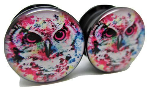 00 gauges plugs owl - 9